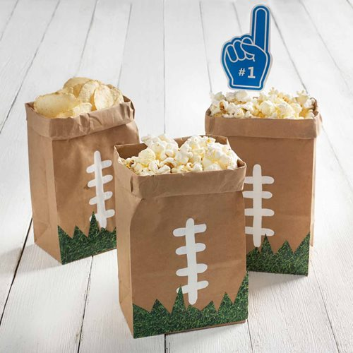 DIY Football Treat Bags & Foam Finger Party Favors