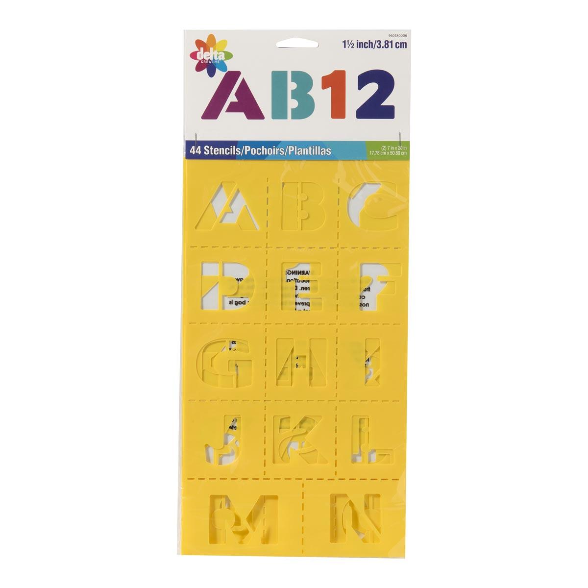 Delta Creative™ Stencil - Block Letter Alphabet