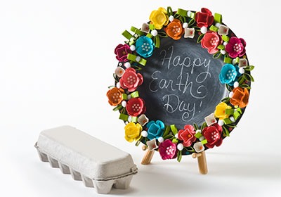 Earth Day Egg Carton Wreath