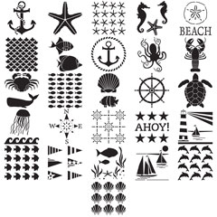 FolkArt ® Stencil Value Packs - Sea Life, 12