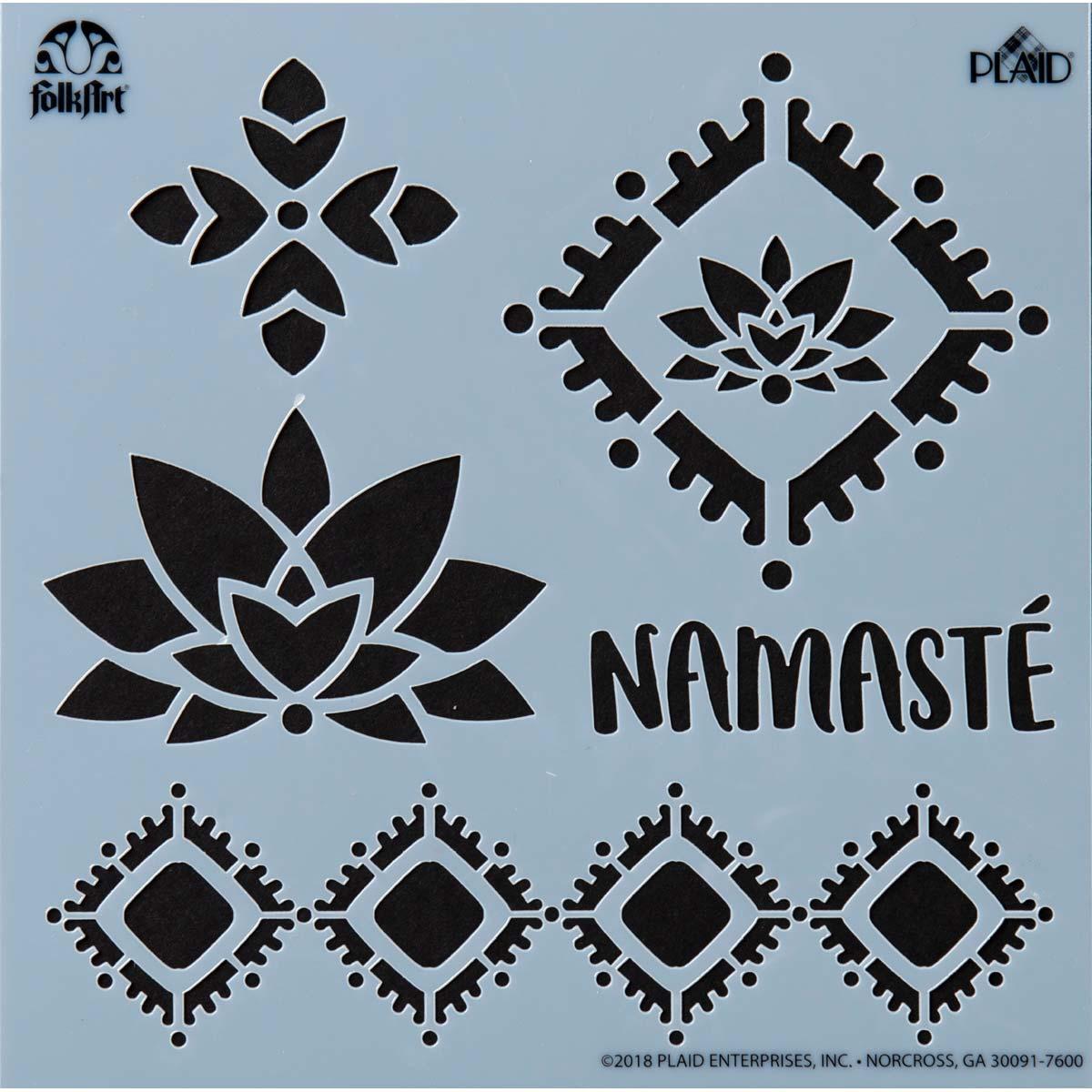 FolkArt ® Painting Stencils - Small - Namaste - 39257