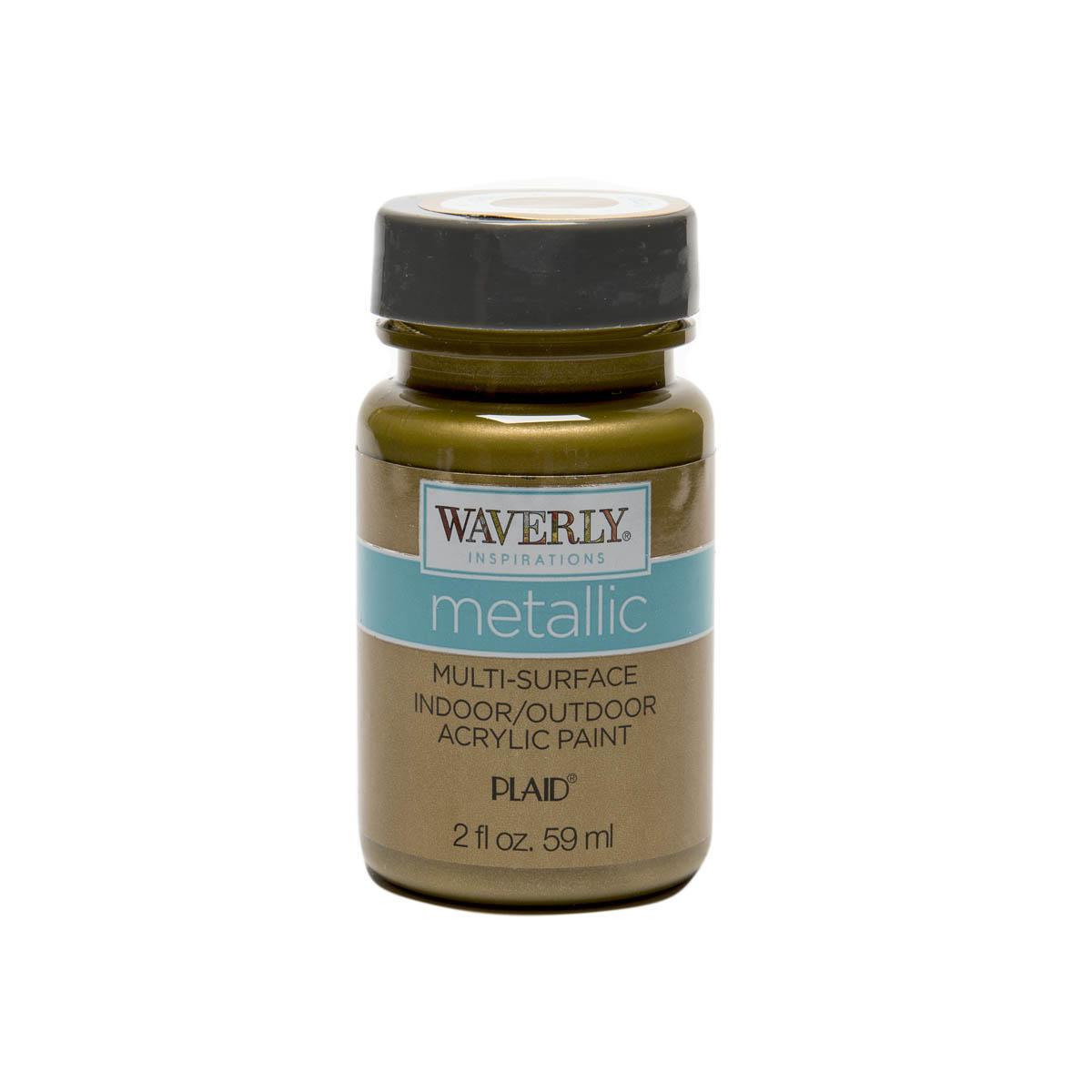 Waverly ® Inspirations Metallic Multi-Surface Acrylic Paint - Golden, 2 oz.