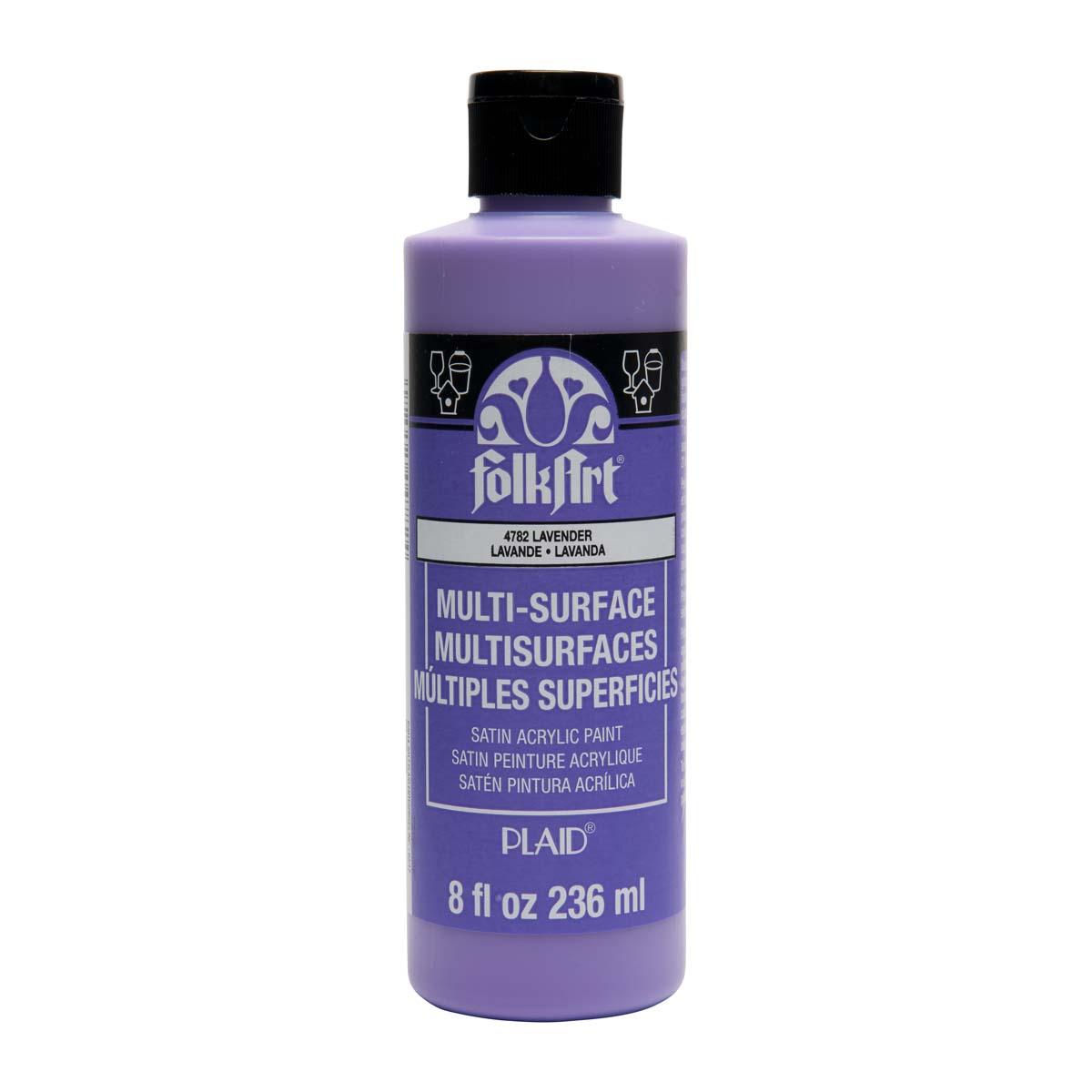 FolkArt ® Multi-Surface Satin Acrylic Paints - Lavender, 8 oz. - 4782
