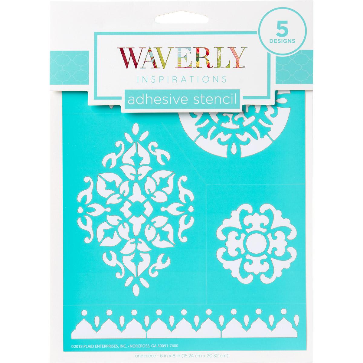 Waverly ® Inspirations Laser-cut Adhesive Stencils - Bohemian, 6