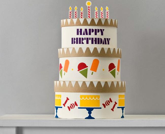 Stupendous Handmade Charlotte Stacked Birthday Cake Boxes Project Plaid Funny Birthday Cards Online Inifofree Goldxyz