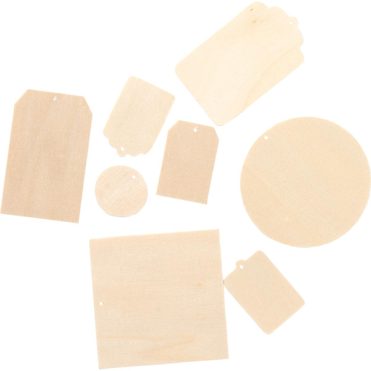 Plaid ® Painter's Palette™ Wood Tags, 24 pc. - 23148