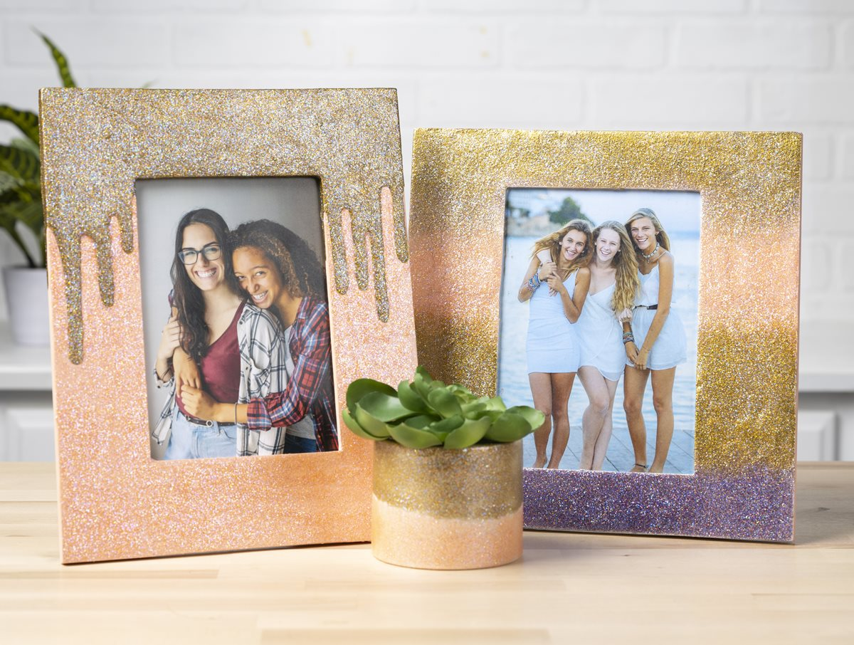 FolkArt Glitterific Fine Frames & Planter
