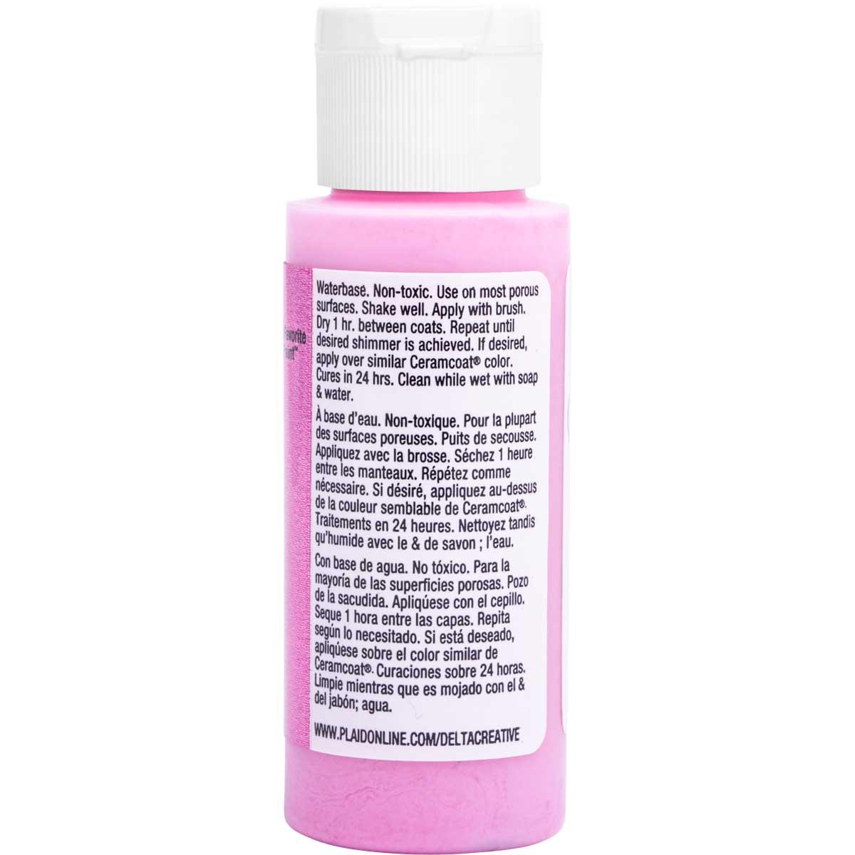 Delta Ceramcoat ® Acrylic Paint - Glitter Pink, 2 oz.