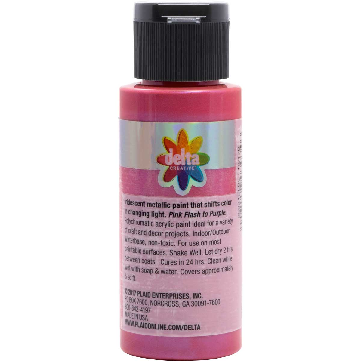 Delta Ceramcoat ® Acrylic Paint - Flash Metallic Pink, 2 oz. - 03034