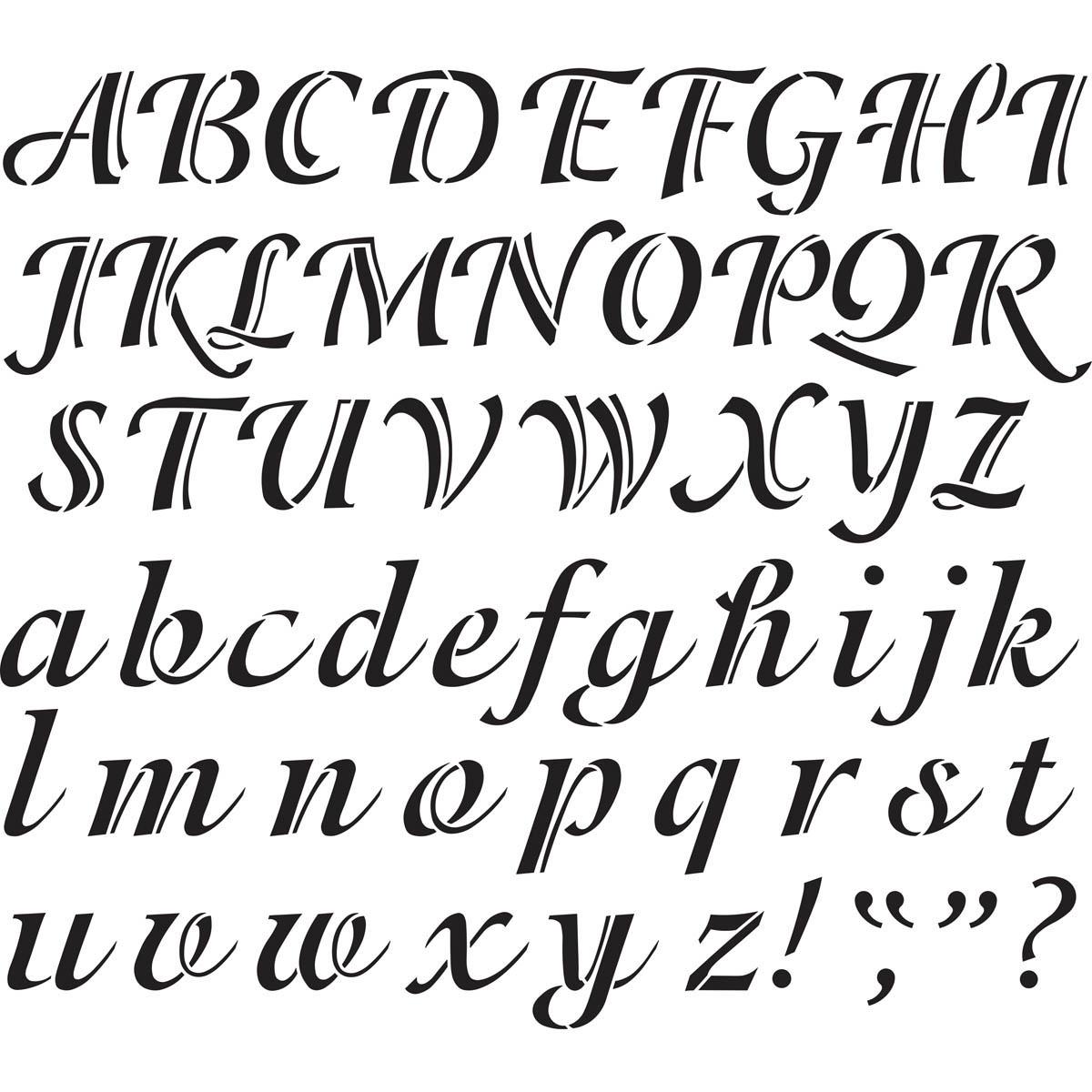 Shop plaid delta stencils alphabet calligraphy 2 upper lower 2 delta stencils alphabet calligraphy 2 spiritdancerdesigns Gallery