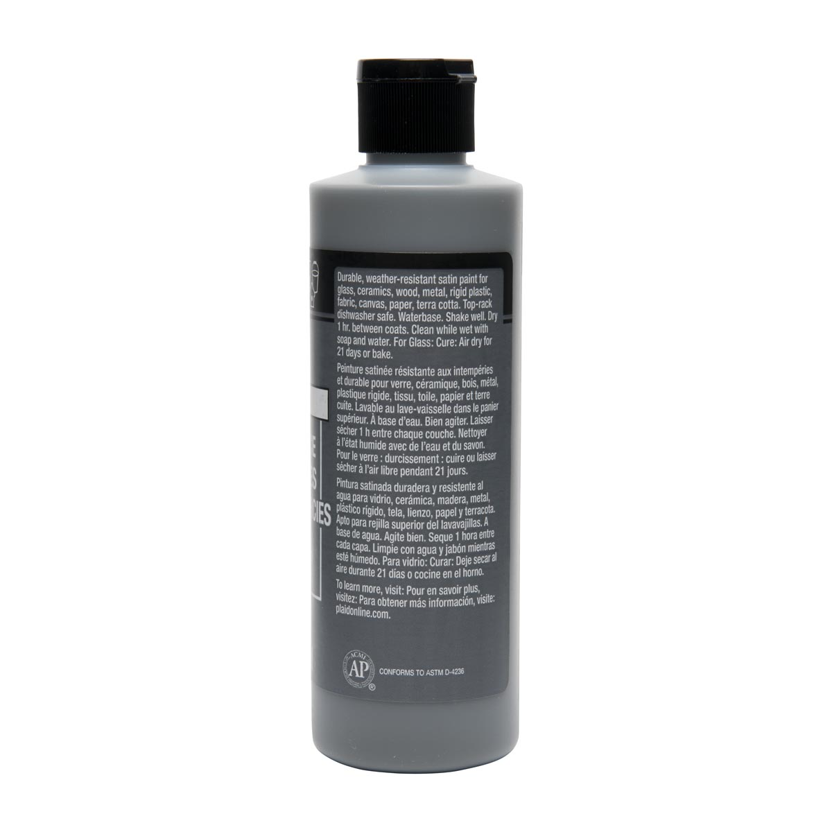 FolkArt ® Multi-Surface Satin Acrylic Paints - Medium Gray, 8 oz.