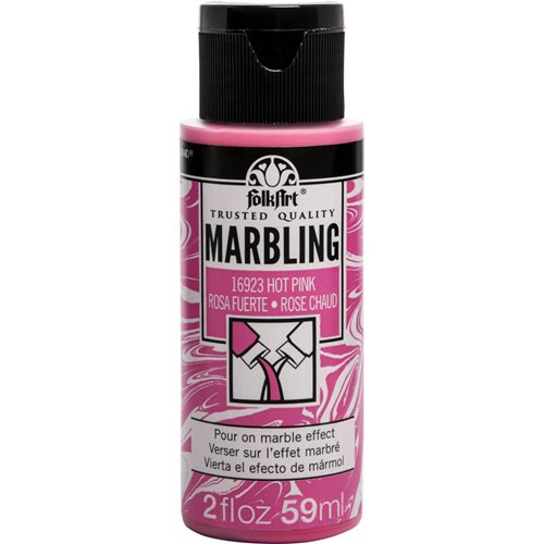 FolkArt ® Marbling Paint - Hot Pink, 2 oz.