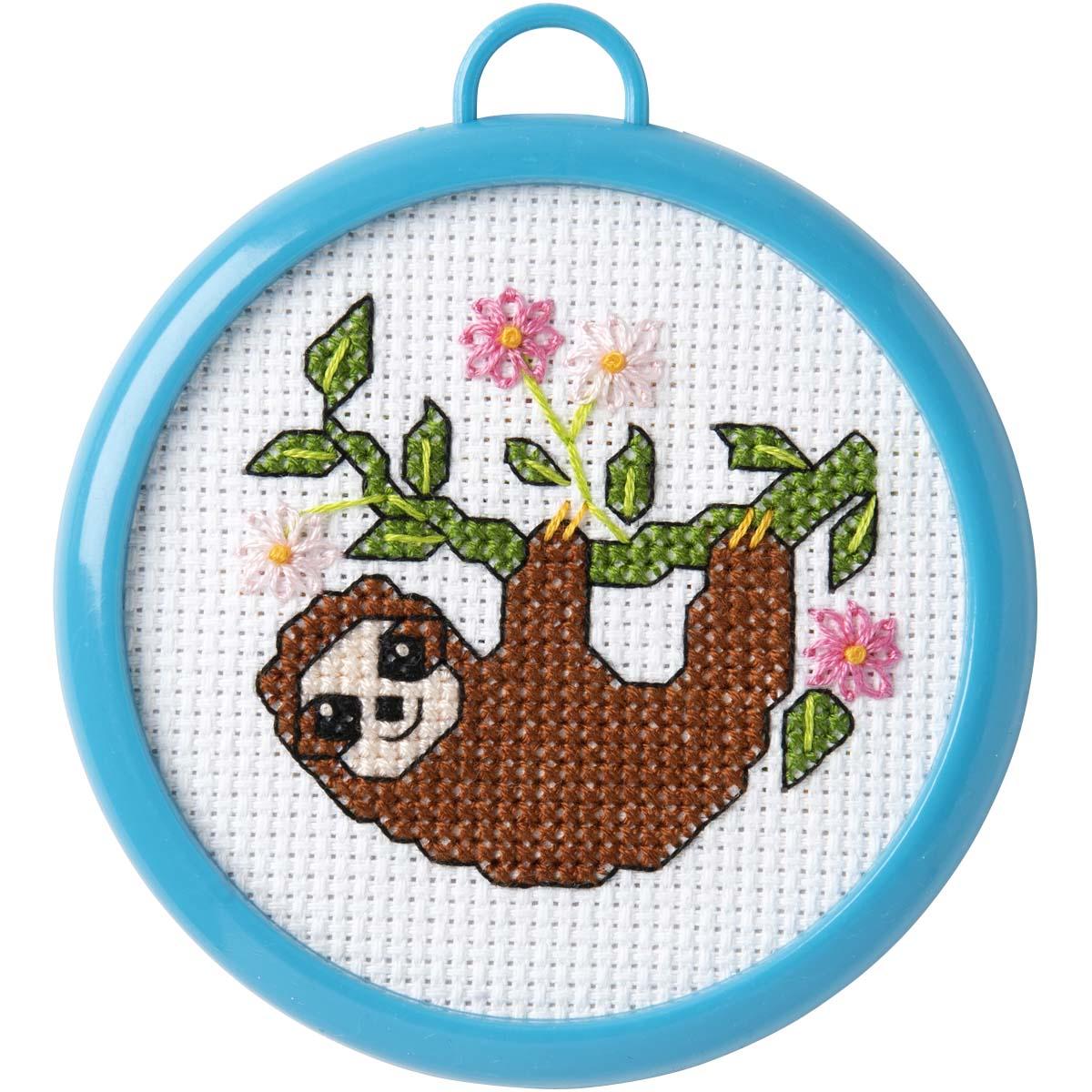 Bucilla ® My 1st Stitch™ - Counted Cross Stitch Kits - Mini - Sloth - 47892E