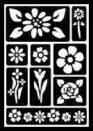 FolkArt ® Peel & Stick Painting Stencils - Floral - 30459