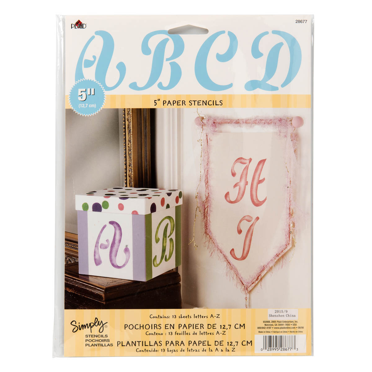 Simply ® Stencils - Value Packs - Alphabets - Cursive Upper Case