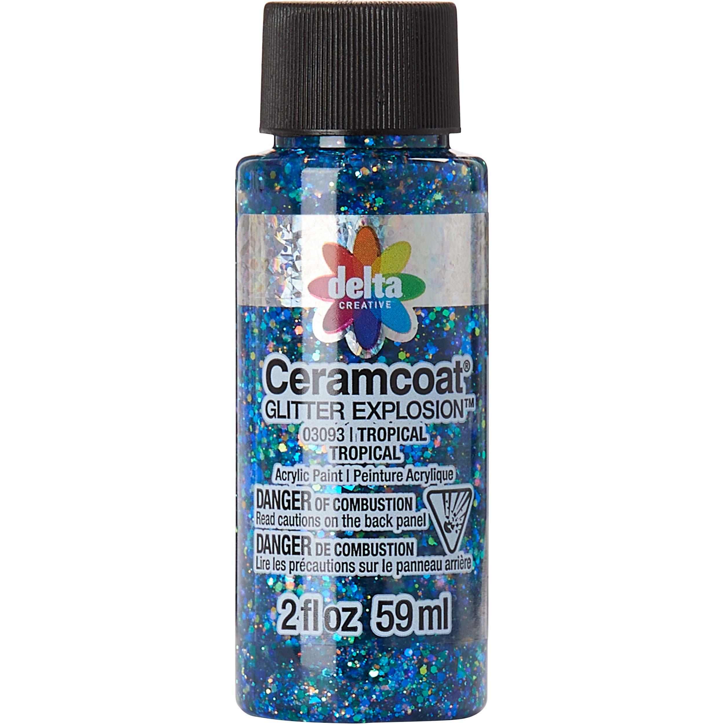 Delta Ceramcoat ® Glitter Explosion™ - Tropical, 2 oz. - 03093