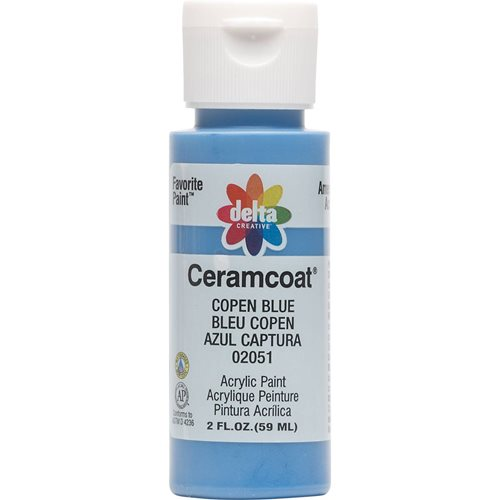Delta Ceramcoat ® Acrylic Paint - Copen Blue, 2 oz.