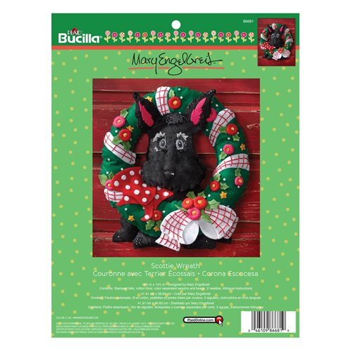 Bucilla ® Seasonal - Felt - Home Decor - Mary Engelbreit ® - Scottie Wreath - 86681