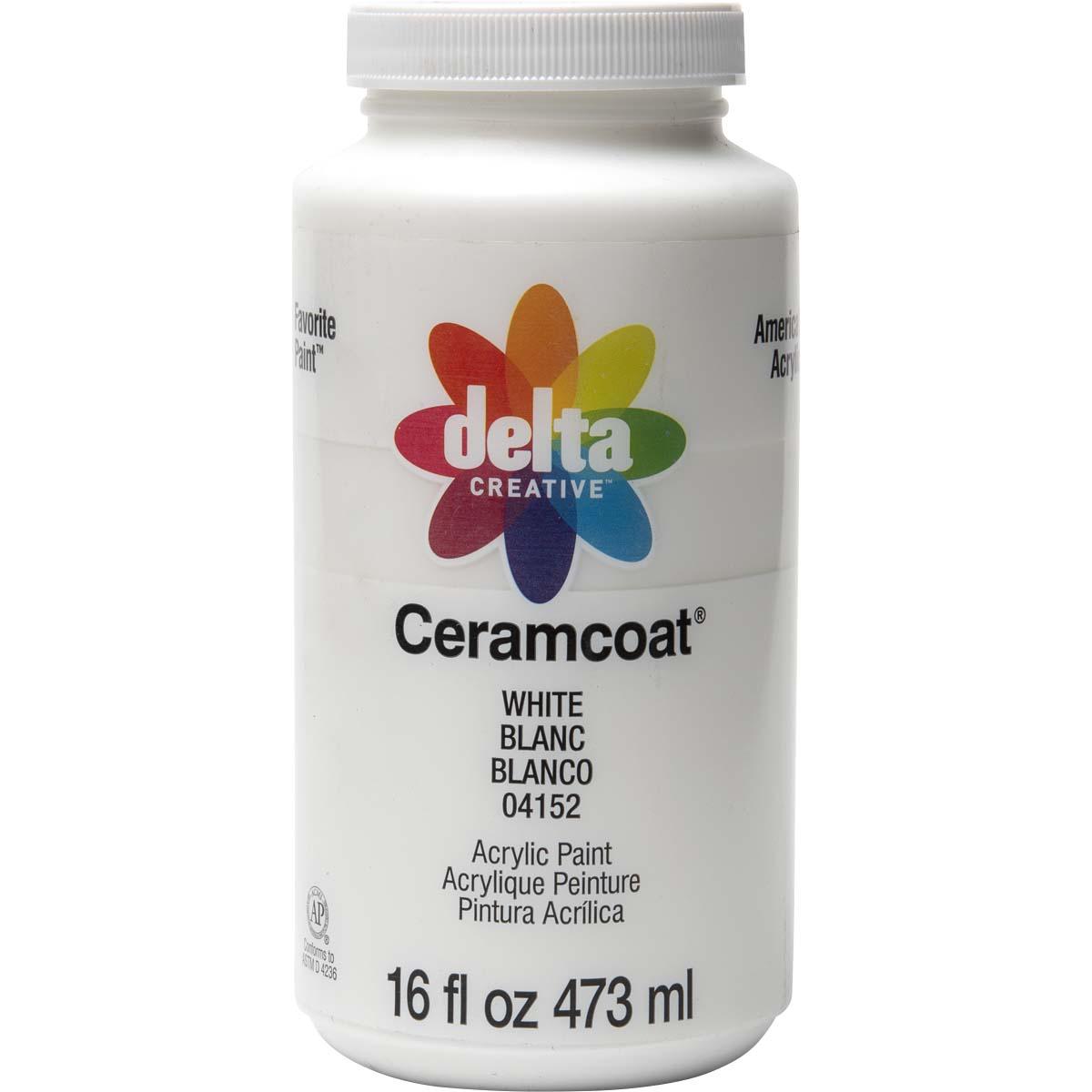 Delta Ceramcoat ® Acrylic Paint - White, 16 oz.
