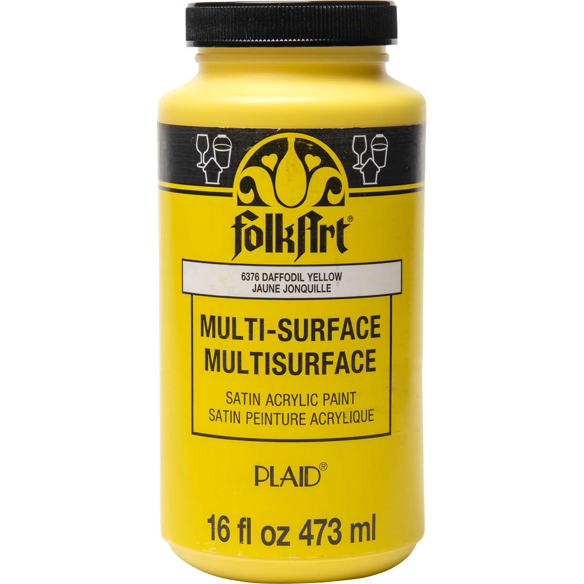 FolkArt ® Multi-Surface Satin Acrylic Paints - Daffodil Yellow, 16 oz. - 6376