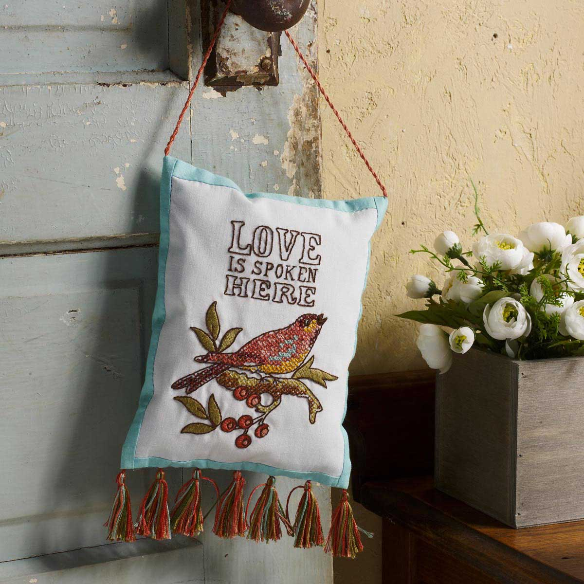 Bucilla Waverly Charleston Chirp Collection Stamped Door Hanger - 47774