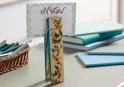Clothespin Note Clip
