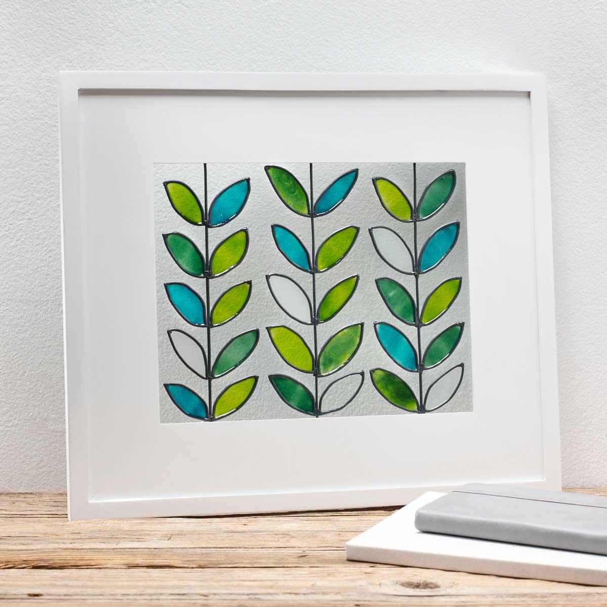 Framed Glass Leaves