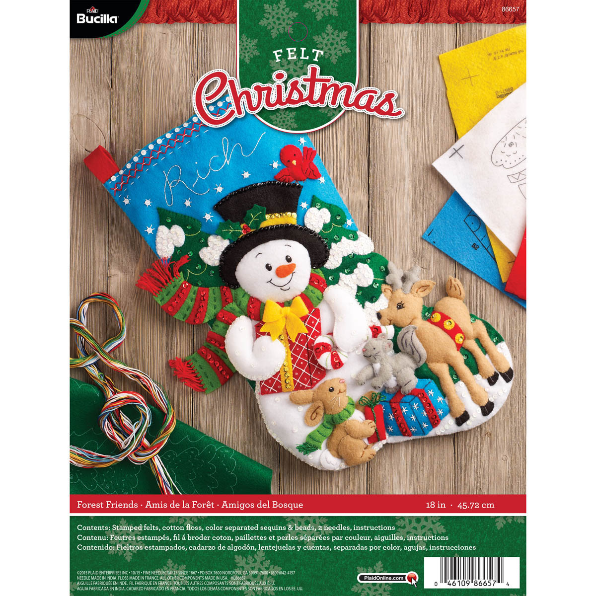 Bucilla ® Seasonal - Felt - Stocking Kits - Forest Friends - 86657