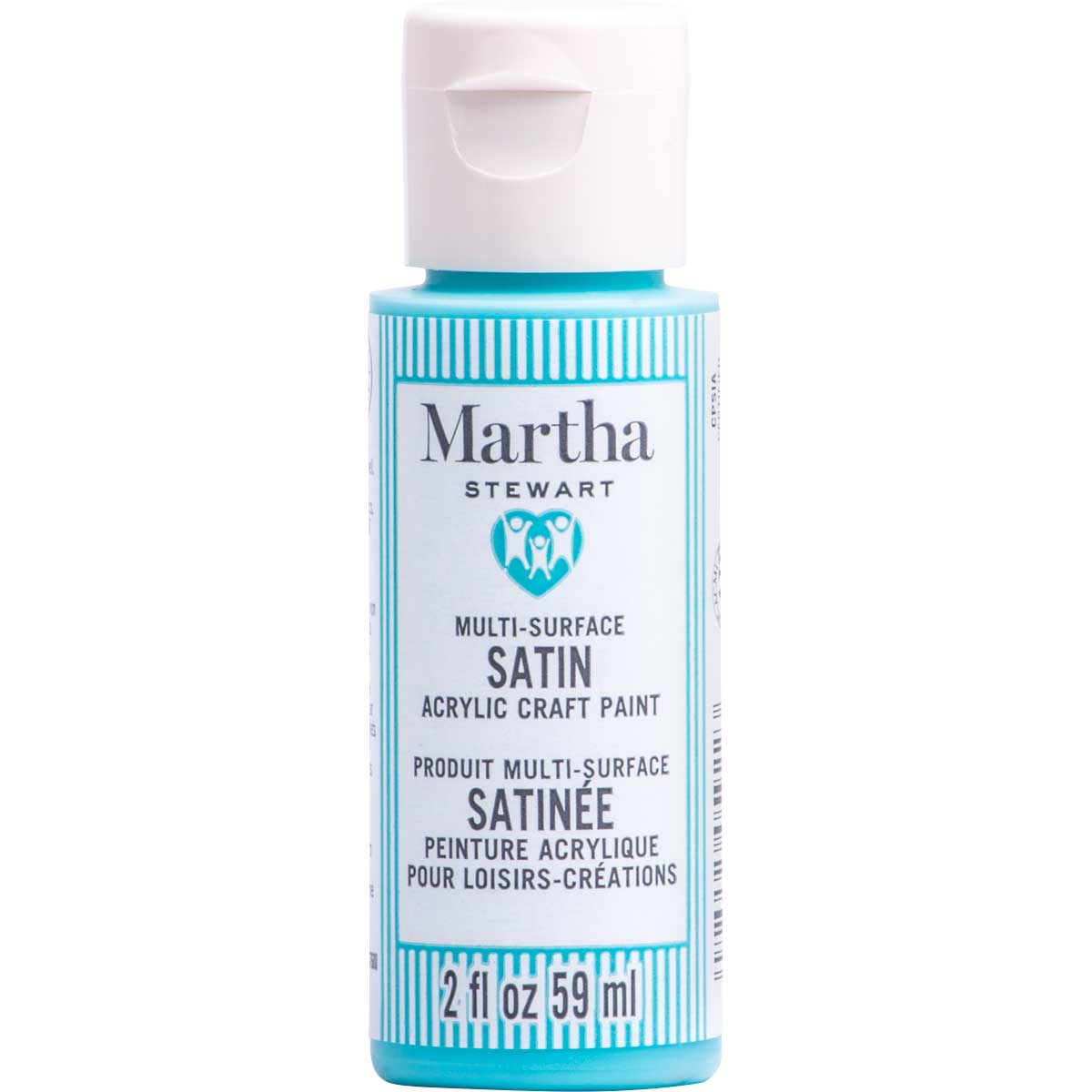 Martha Stewart ® Multi-Surface Satin Acrylic Craft Paint CPSIA - Aqua, 2 oz.