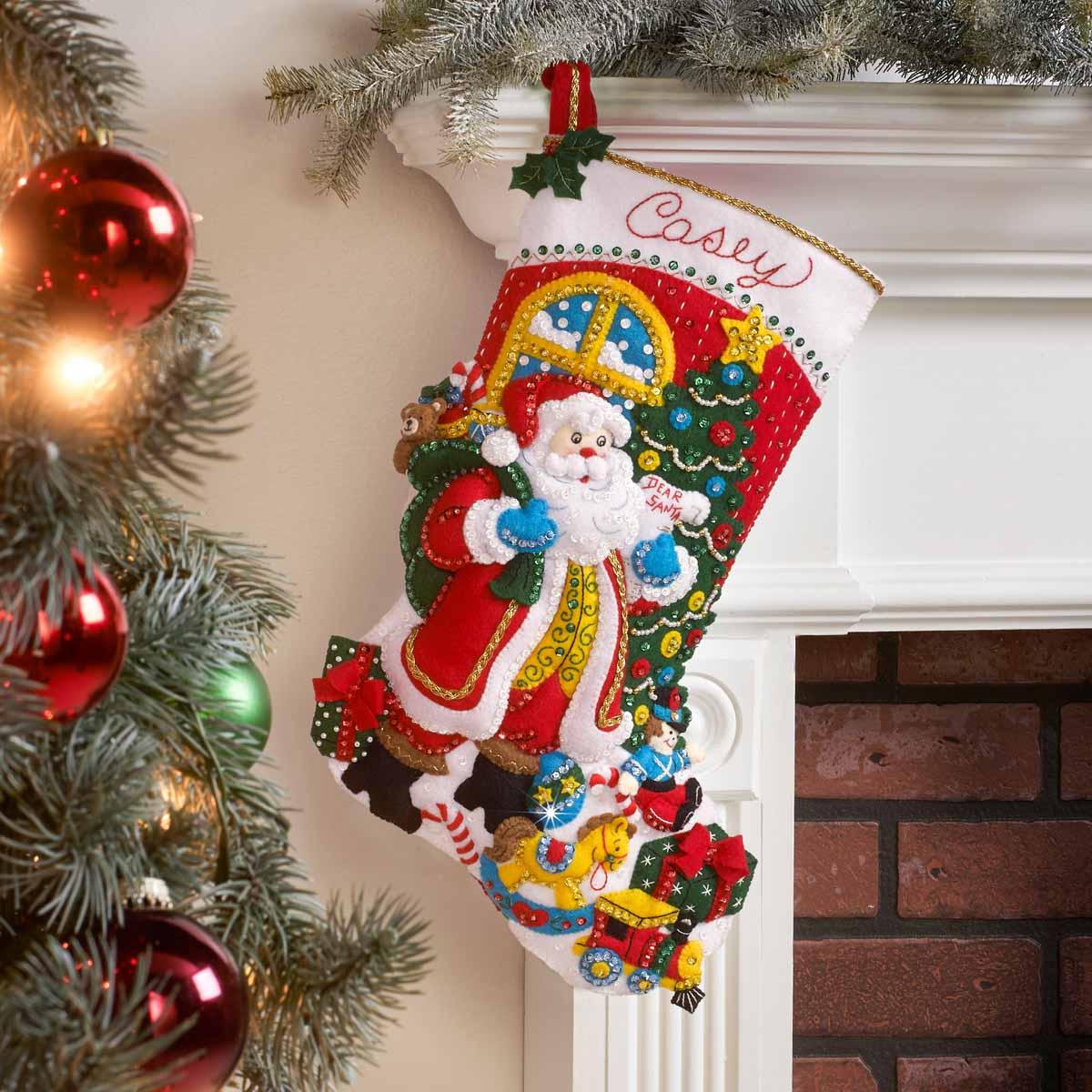 Bucilla ® Seasonal - Felt - Stocking Kits - St. Nick's Visit - 89238E