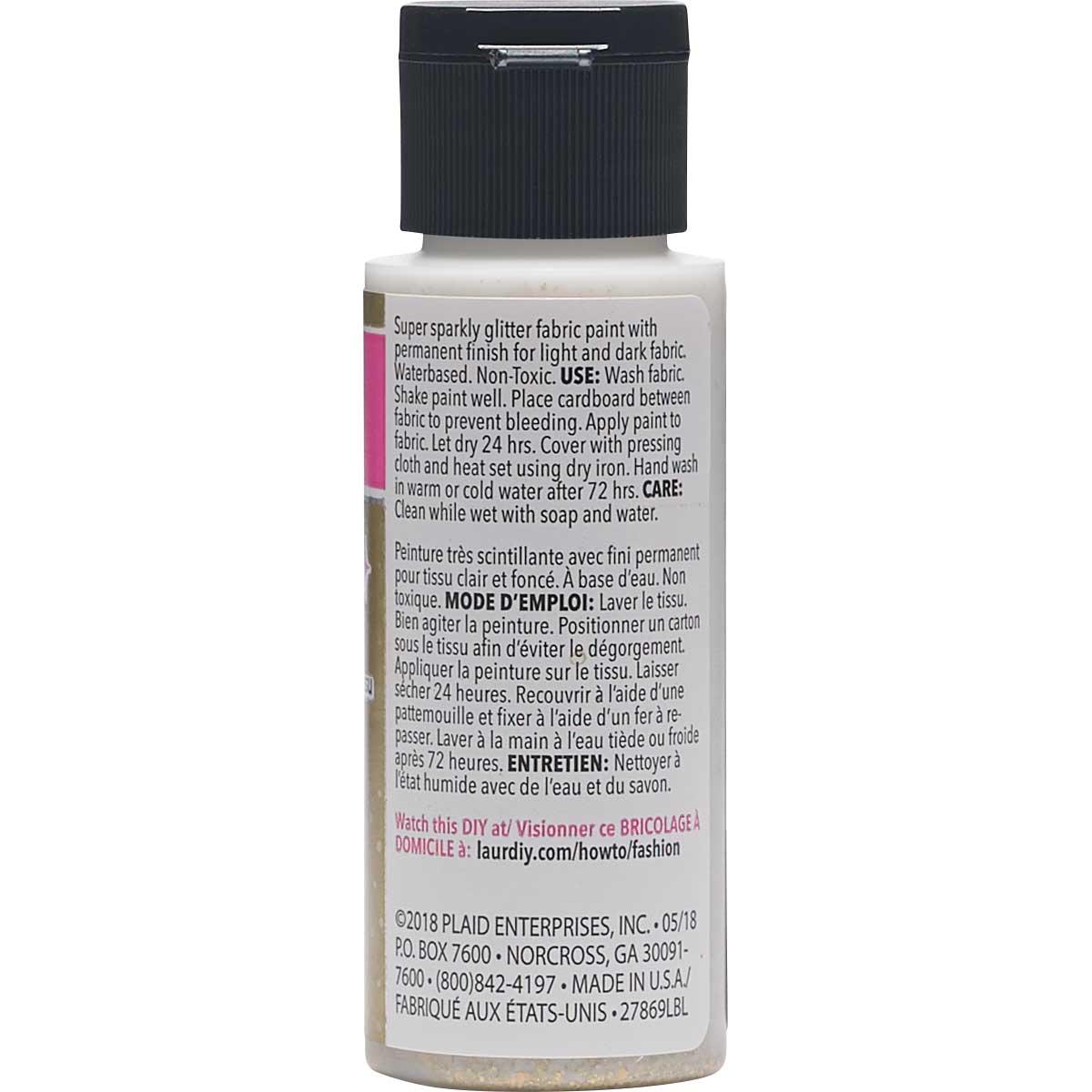LaurDIY ® Galaxy Glitter Fabric Paint - Superstar, 2 oz.