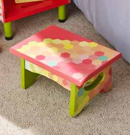Decorated Stool for Kids