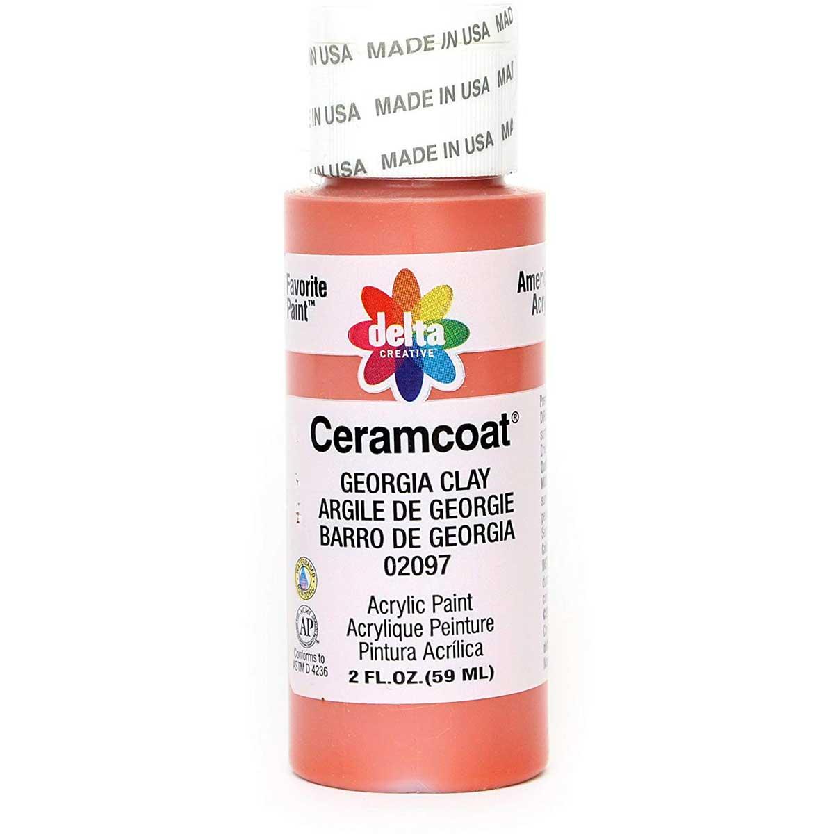 Delta Ceramcoat ® Acrylic Paint - Georgia Clay, 2 oz.