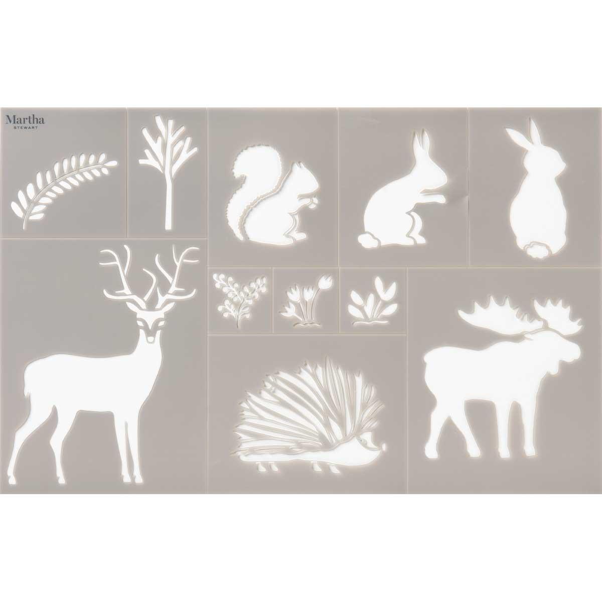 Martha Stewart® Adhesive Stencil - Woodland Animals