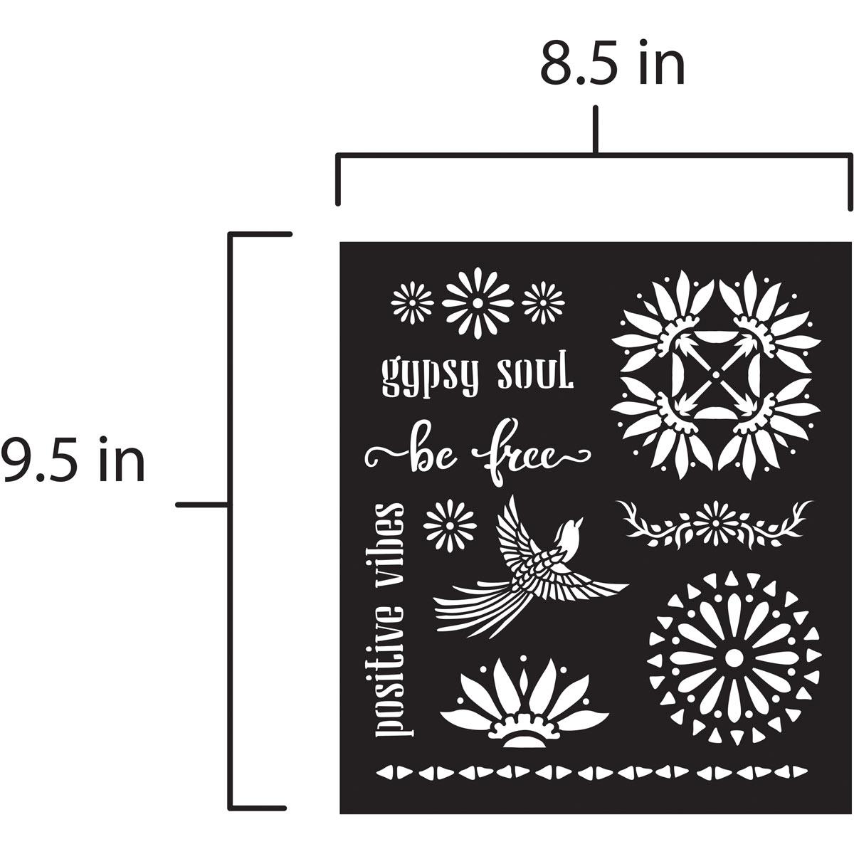 FolkArt ® Laser Cut Adhesive Stencils - BOHO - 39244