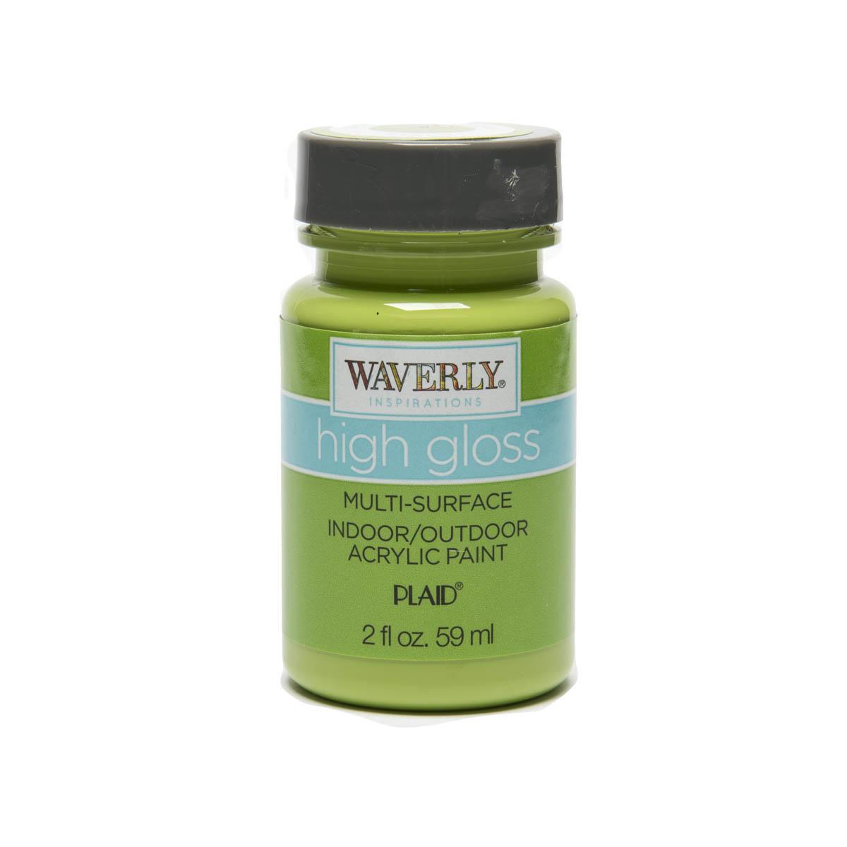 Waverly ® Inspirations High Gloss Multi-Surface Acrylic Paint - Grass, 2 oz. - 60932E