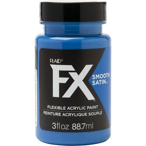 PlaidFX Smooth Satin Flexible Acrylic Paint - Beta Blue, 3 oz. - 36861