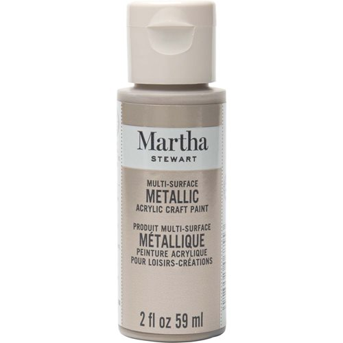 Martha Stewart ® Multi-Surface Metallic Acrylic Craft Paint - Champagne, 2 oz.