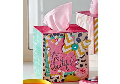 Girly Vanity Tissue Box