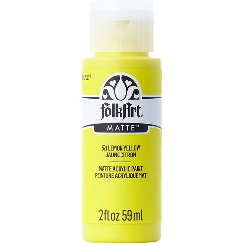 FolkArt ® Acrylic Colors - Lemon Yellow, 2 oz. - 521