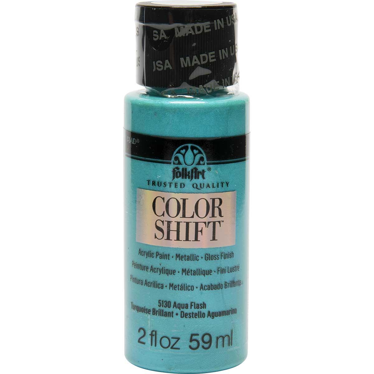 FolkArt ® Color Shift™ Acrylic Paint - Aqua Flash, 2 oz.