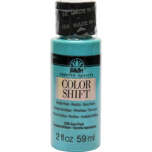 FolkArt ® Color Shift™ Acrylic Paint - Aqua Flash, 2 oz.