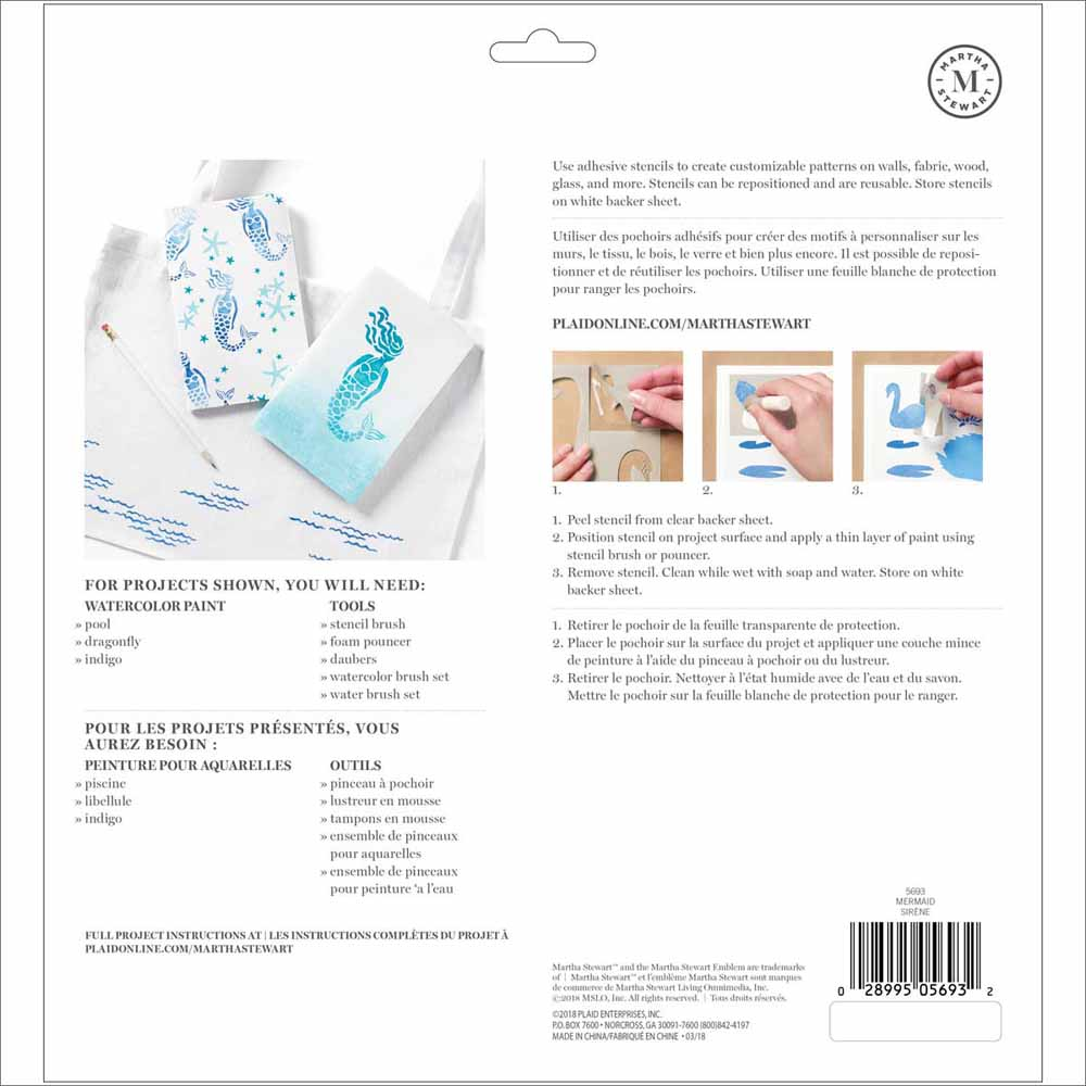 Martha Stewart ® Adhesive Stencil - Mermaid - 5693