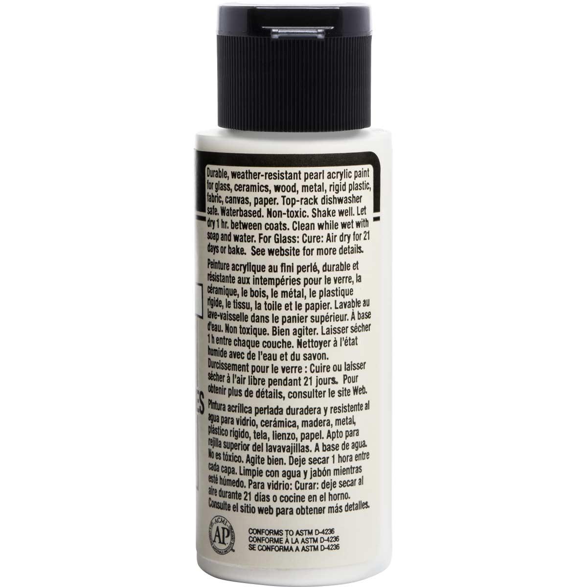 FolkArt ® Multi-Surface Pearl Acrylic Paints - White, 2 oz.