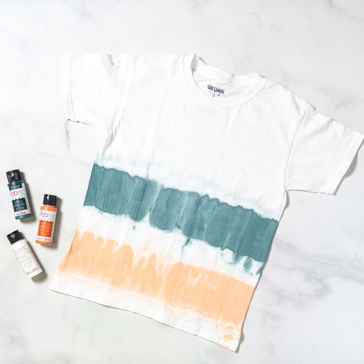 Orange and Teal Tie-Dye Shirt