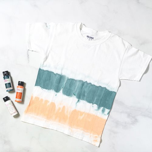 Orange and Teal Tie-Dye Shirt