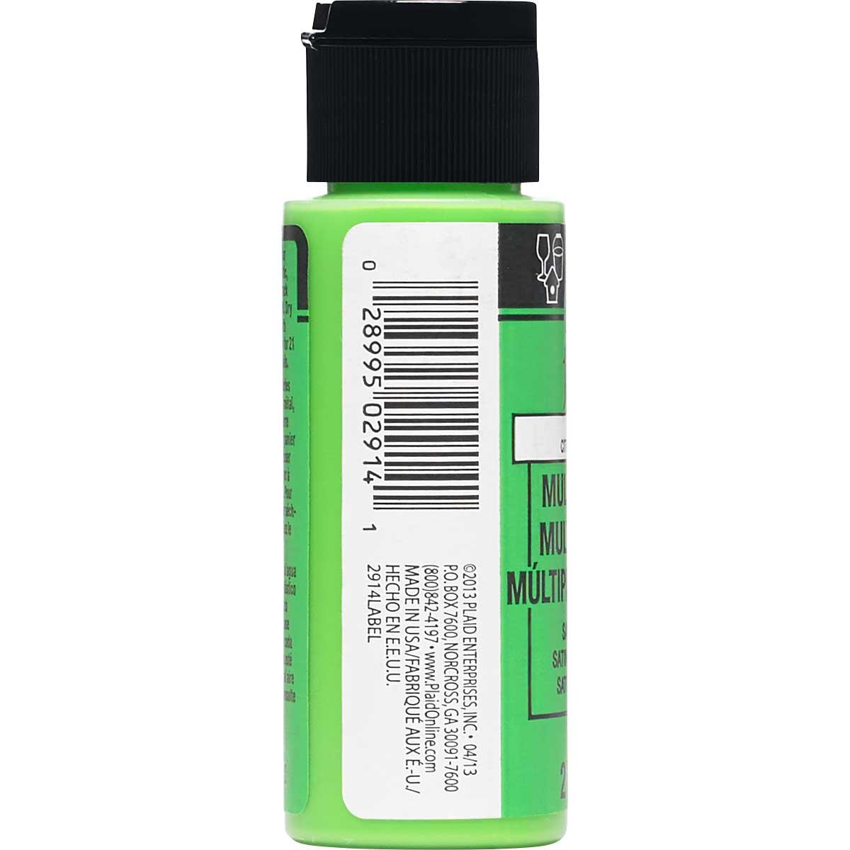 FolkArt ® Multi-Surface Satin Acrylic Paints - Lime Green, 2 oz.