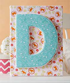Letter Wall Art for a Baby Nursery