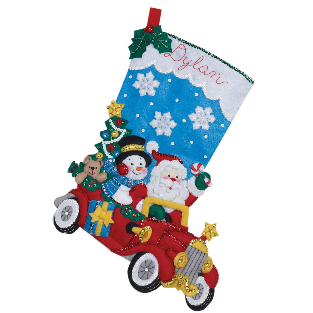 Bucilla ® Seasonal - Felt - Stocking Kits - Holiday Drive