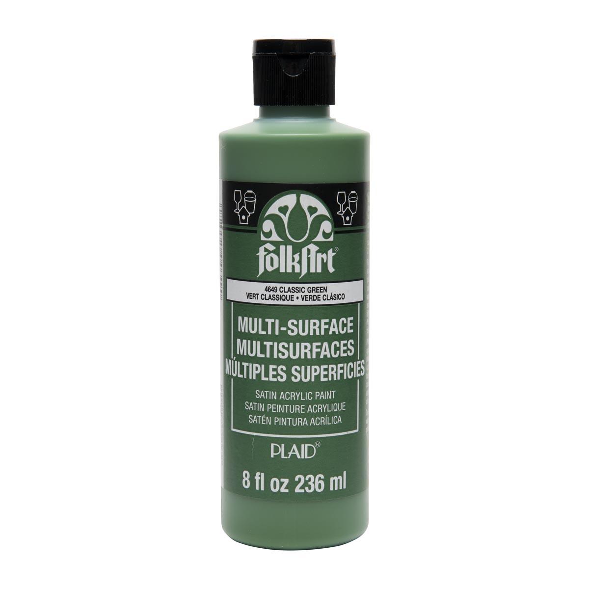 FolkArt ® Multi-Surface Satin Acrylic Paints - Classic Green, 8 oz.